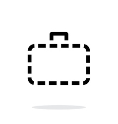 Absence case simple icon on white background vector image