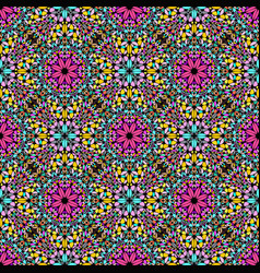 Abstract bohemian oriental gravel ethno pattern vector