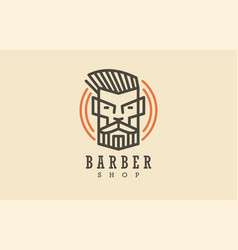 barber shop hair stylist haircut salon design vector image