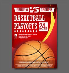 Basketball poster design for sport bar vector
