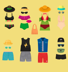 beachwear bikini cloth fashion looks vacation vector image