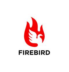 Bird flame logo template vector