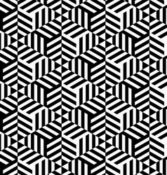 Black and white striped triangles vector