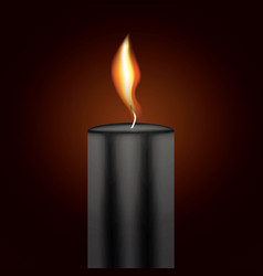 black candle flame vector image