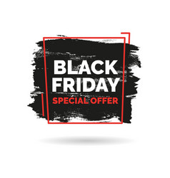 Black friday sale inscription on abstract ink vector