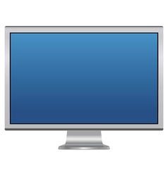Blank lcd monitor vector