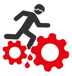 blood gear job accident icon vector image