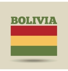 Bolivia country flag vector