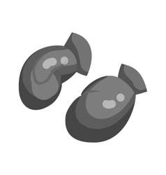 Boxing gloves icon black monochrome style vector image