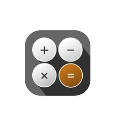 calculator logo vector image