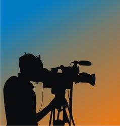 Cameraman Silhouette vector image vector image