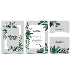 Card with branches and leaf vector