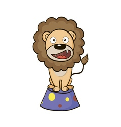 Circus lion on a pedestal vector image