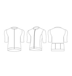 Cycling jersey template out line isolated vector