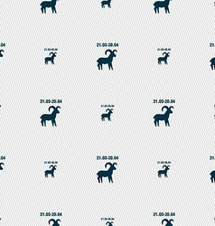 Decorative Zodiac Aries sign Seamless pattern with vector image