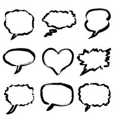doodle comics set vector image