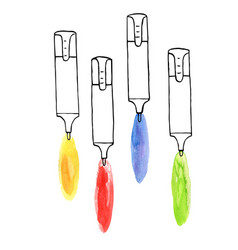 drawing markers vector image