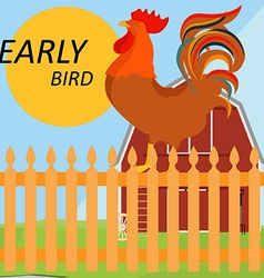 Early bird concept vector image