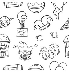 Element circus hand draw pattern vector