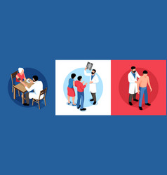 family doctor design concept vector image