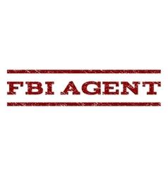 FBI Agent Watermark Stamp vector