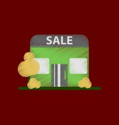 flat shading style icon shop sale vector image
