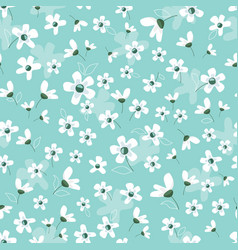 floral blossom seamless pattern spring pastel vector image