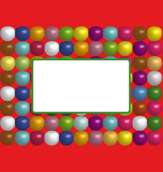 Frame with colorful balloons vector