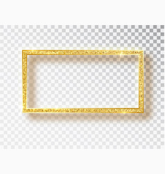 Gold shiny glowing frame banners vector