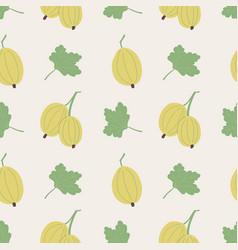 Gooseberries and leaves vector