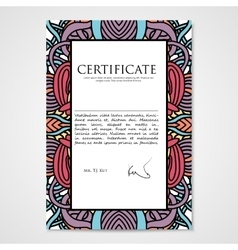 Graphic design template document with hand drawn vector image