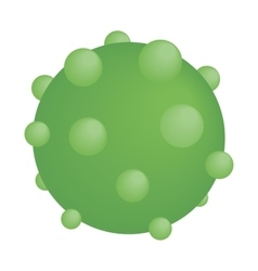 Green round virus isometric icon vector