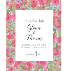 greeting card for the wedding day vector image