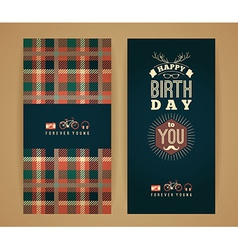 Happy birthday congratulations vintage retro vector