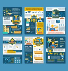 House construction and home repair banner temlate vector