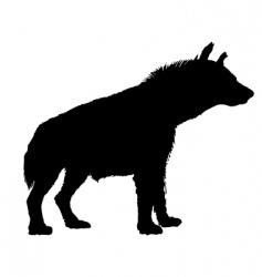 Hyena silhouette vector