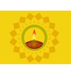 Indian diwali diya vector