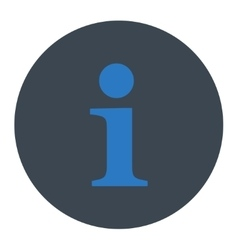 Info flat smooth blue colors round button vector
