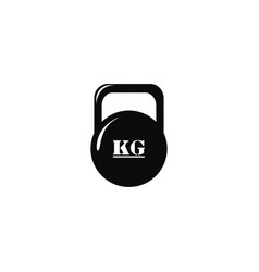 kettlebell iron weight for gym equipment vector image
