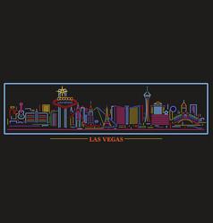 Las vegas neon sign skyline vector