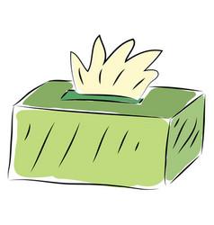 Light green tissue box on white background vector