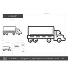 Lorry line icon vector