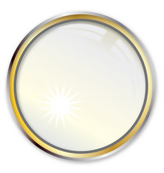 Magnifying lens vector