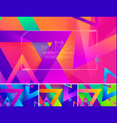 modern triangle abstract background 3 vector image