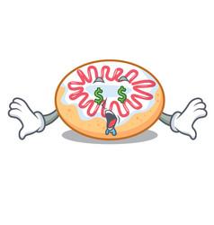 Money eye jelly donut mascot cartoon vector