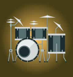 musical drum kit wood rhythm music instrument vector image