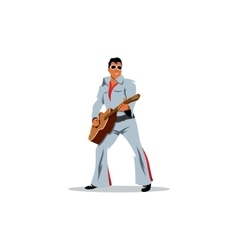 Musician artist with a guitar in image of vector