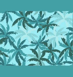 palm leaves seamless pattern tropical jungle vector image