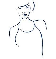 Portrait of young woman vector