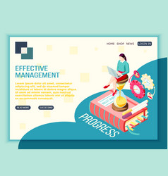 progressive management landing page vector image